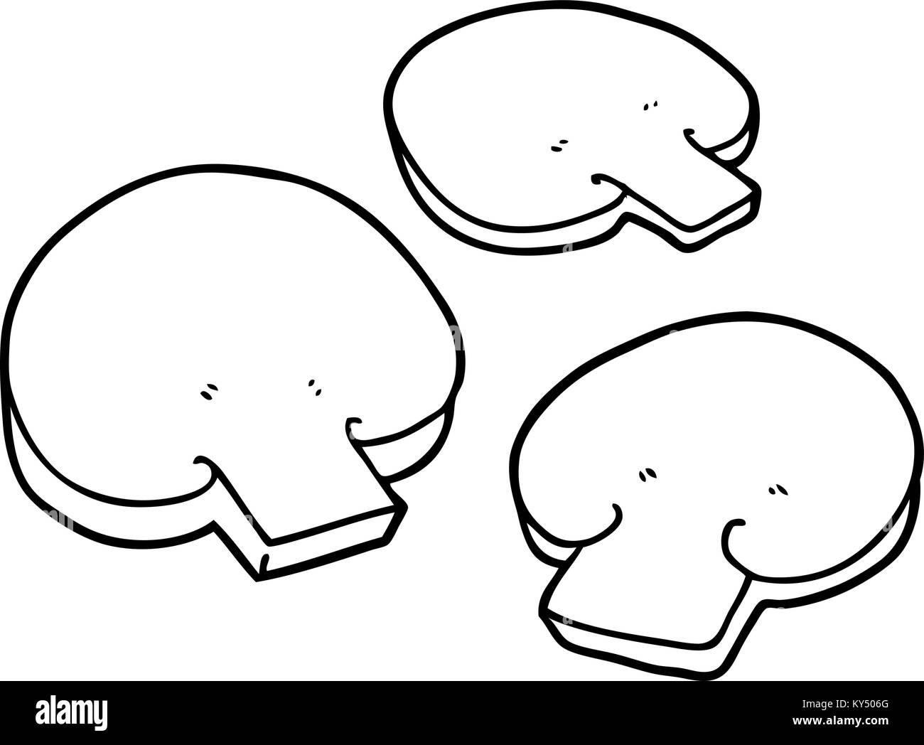cartoon mushrooms Stock Vector