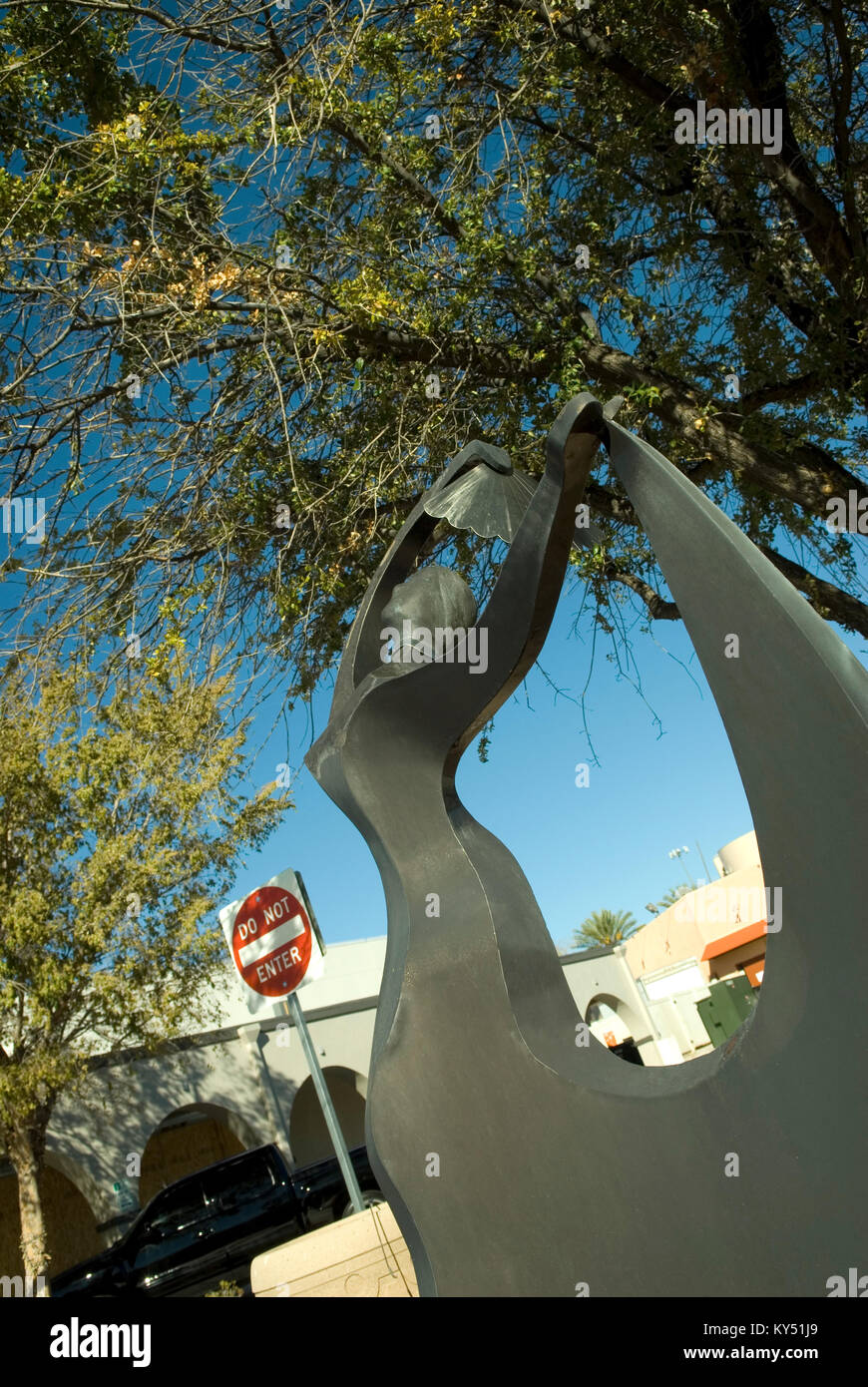 Metal Sculpture at Boulder City, Nevada, USA. - Stock Image