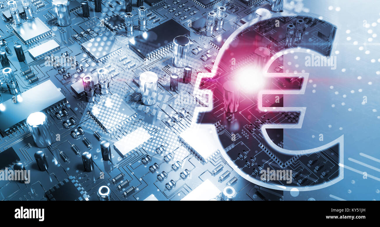 Composite Image Of Symbol Of Euro Sign Currency Stock Photo