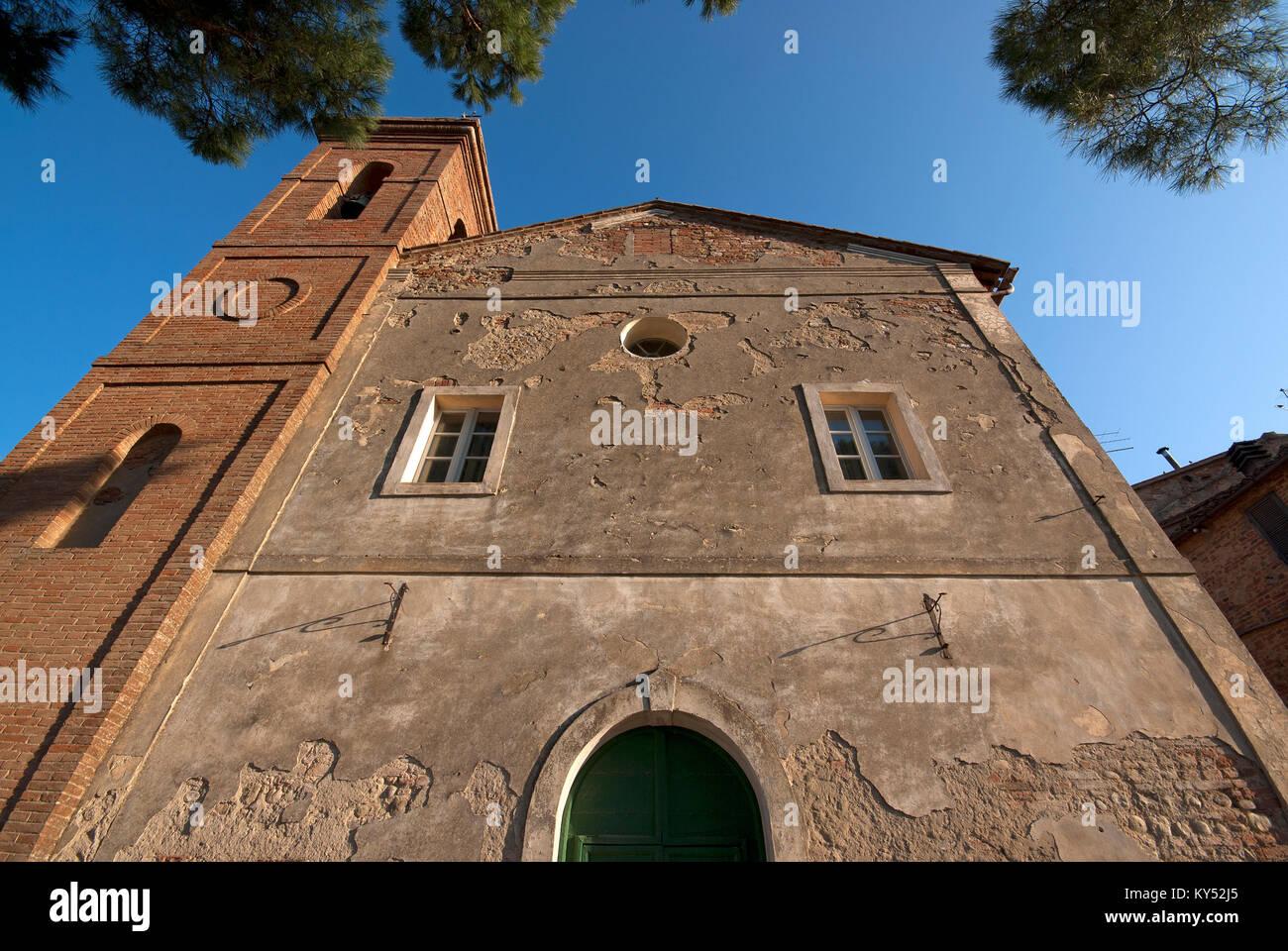 San Pietro Church, Città della Pieve, Umbria, Italy - Stock Image