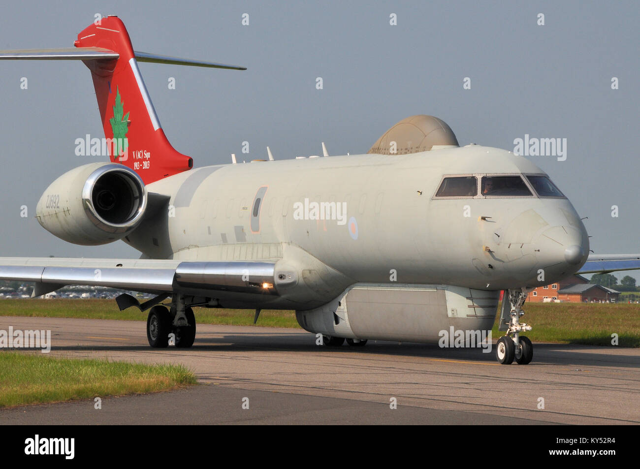 Raytheon Sentinel R1 airborne battlefield and ground surveillance aircraft operated by the Royal Air Force. Based - Stock Image