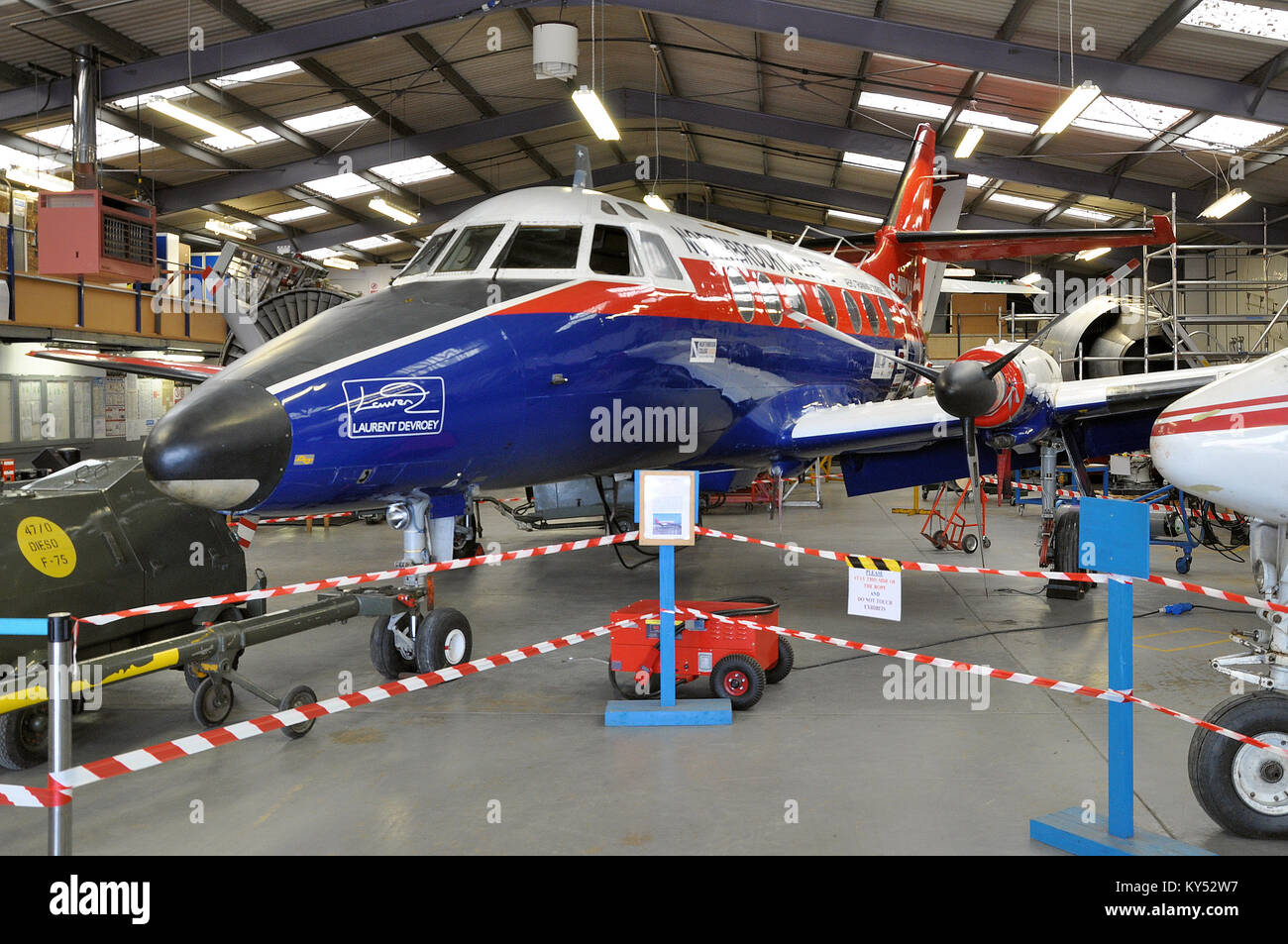 Northbrook College further education training at Shoreham-by-Sea in West Sussex. Brighton City Airport. XX475, Scottish Stock Photo