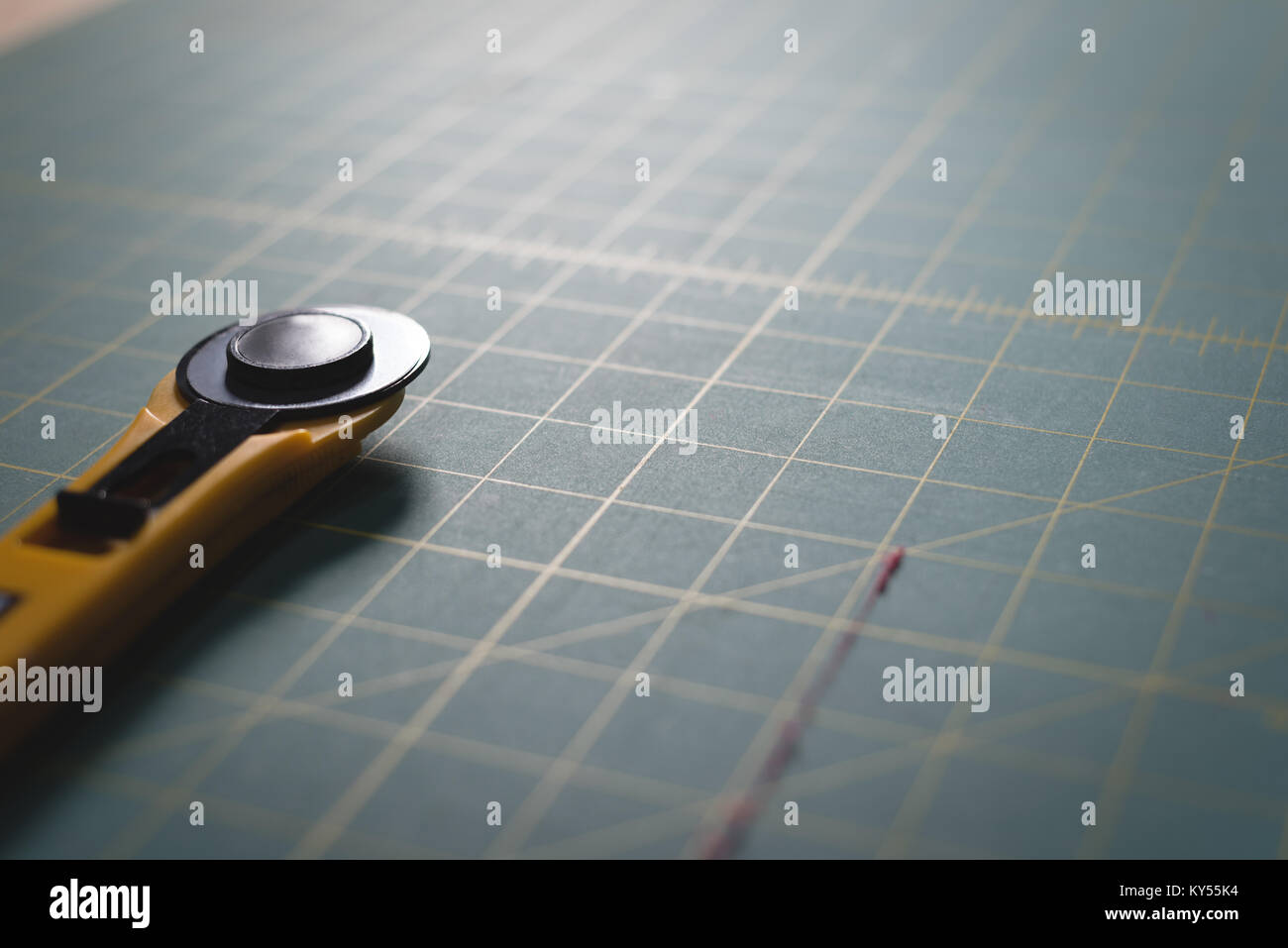 Blade on table - Stock Image