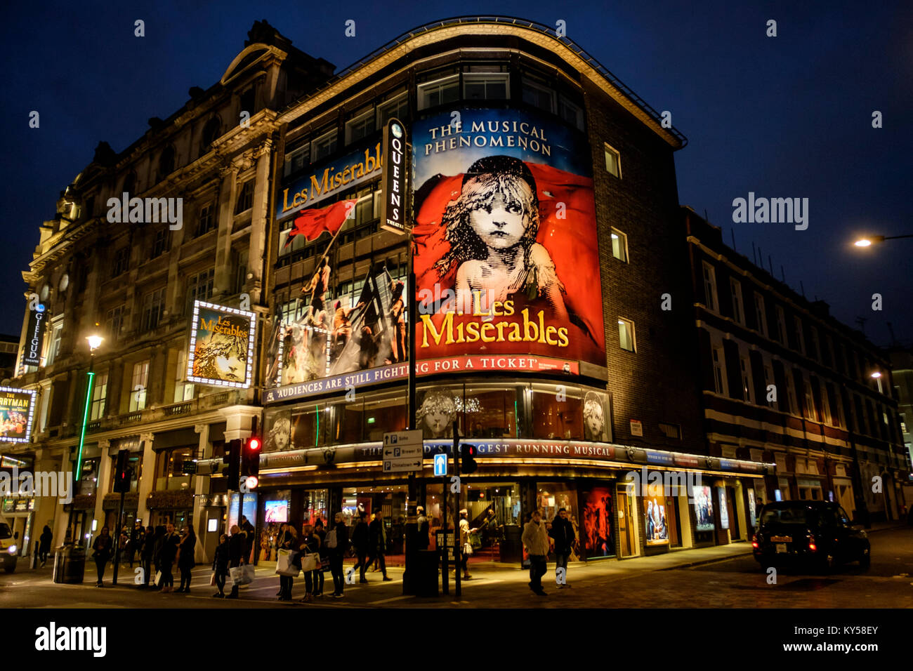 Les Misérables, Queens Theatre, Shaftesbury Avenue, London, UK - Stock Image