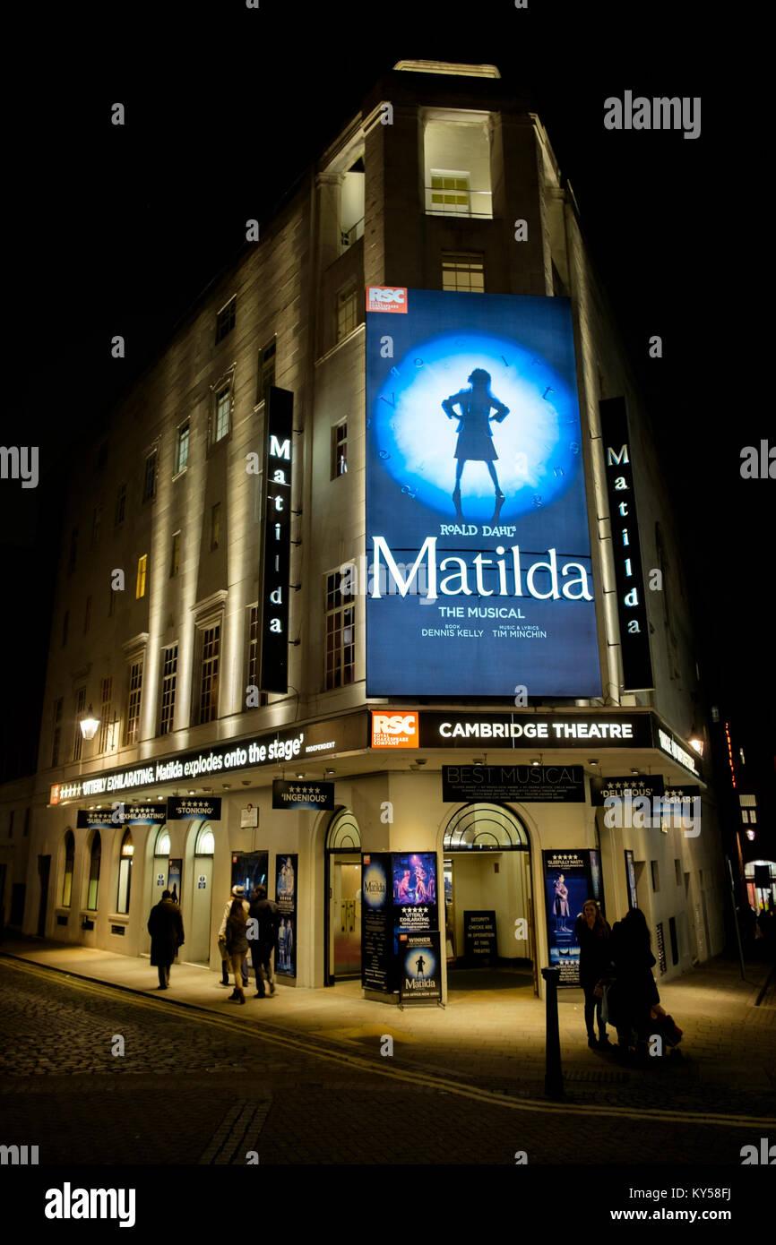 Matilda, Cambridge Theatre, Seven Dials, Covent Garden, London, United Kingdom - Stock Image