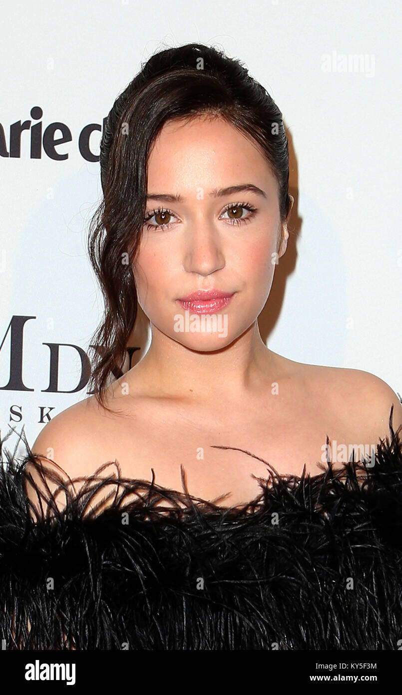 Hollywood, CA, USA. 11th Jan, 2018. 11 January 2018 - Hollywood, California - Gideon Adlon. Marie Claire's Image - Stock Image