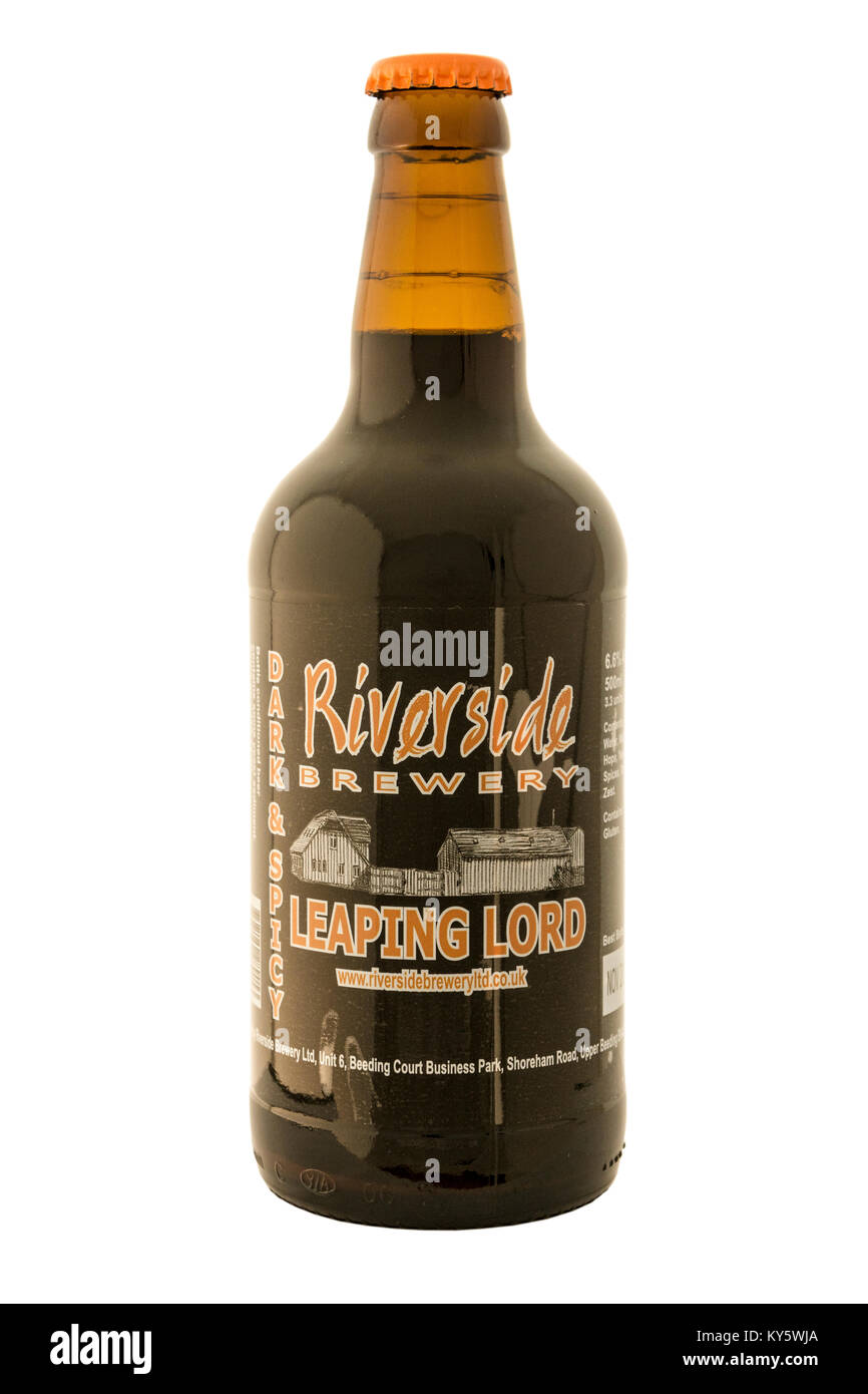 Riverside Brewery - Leaping Lord Bottled Beer. - Stock Image