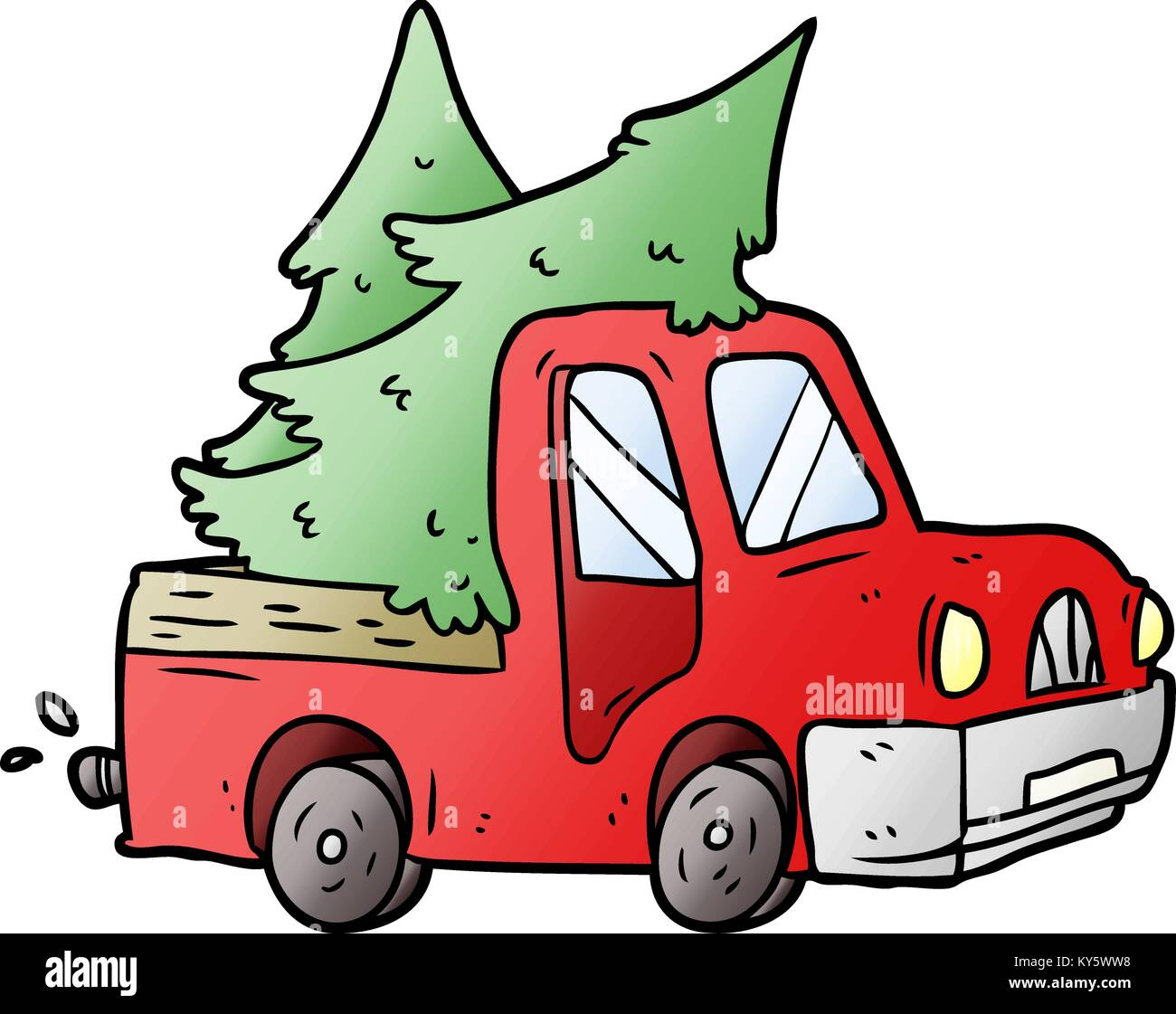Cartoon Pickup Truck Carrying Christmas Trees Stock Vector Image Art Alamy Shapes needed to draw a cartoon tree and how to add detail to your tree to make it look more realistic; https www alamy com stock photo cartoon pickup truck carrying christmas trees 171619092 html