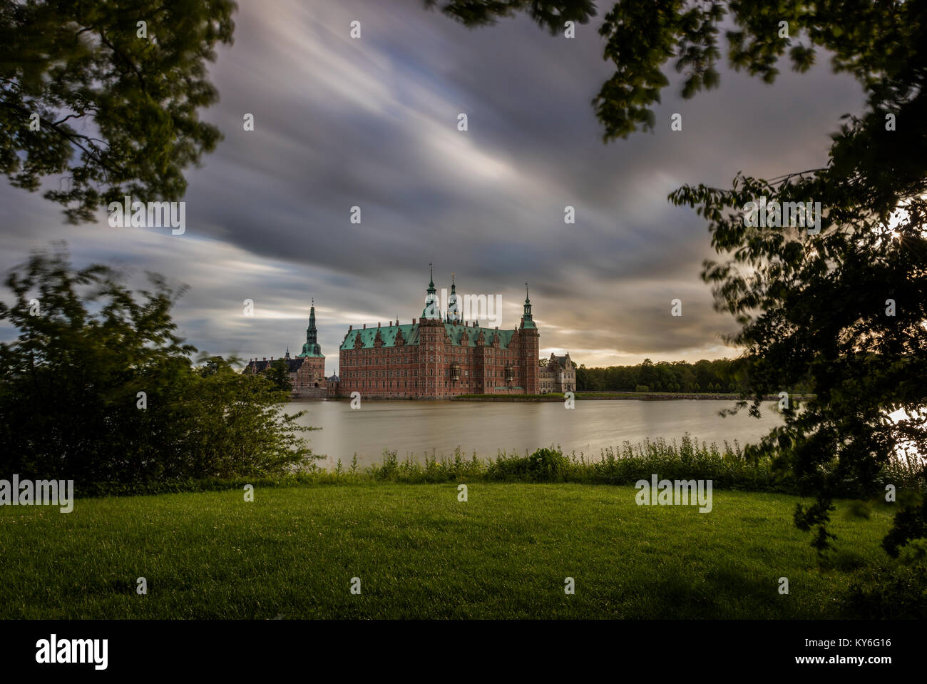 Frederiksborg Castle in Hillerod, Denmark - Stock Image