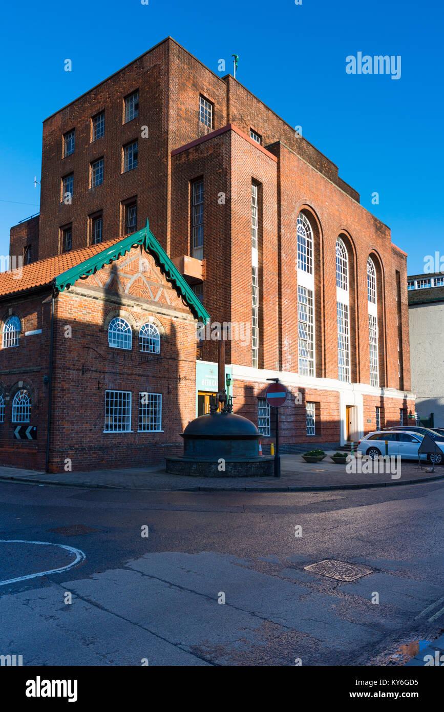 Greene King brewery,Westgate Street, Bury St Edmunds, Suffolk, England, UK. - Stock Image