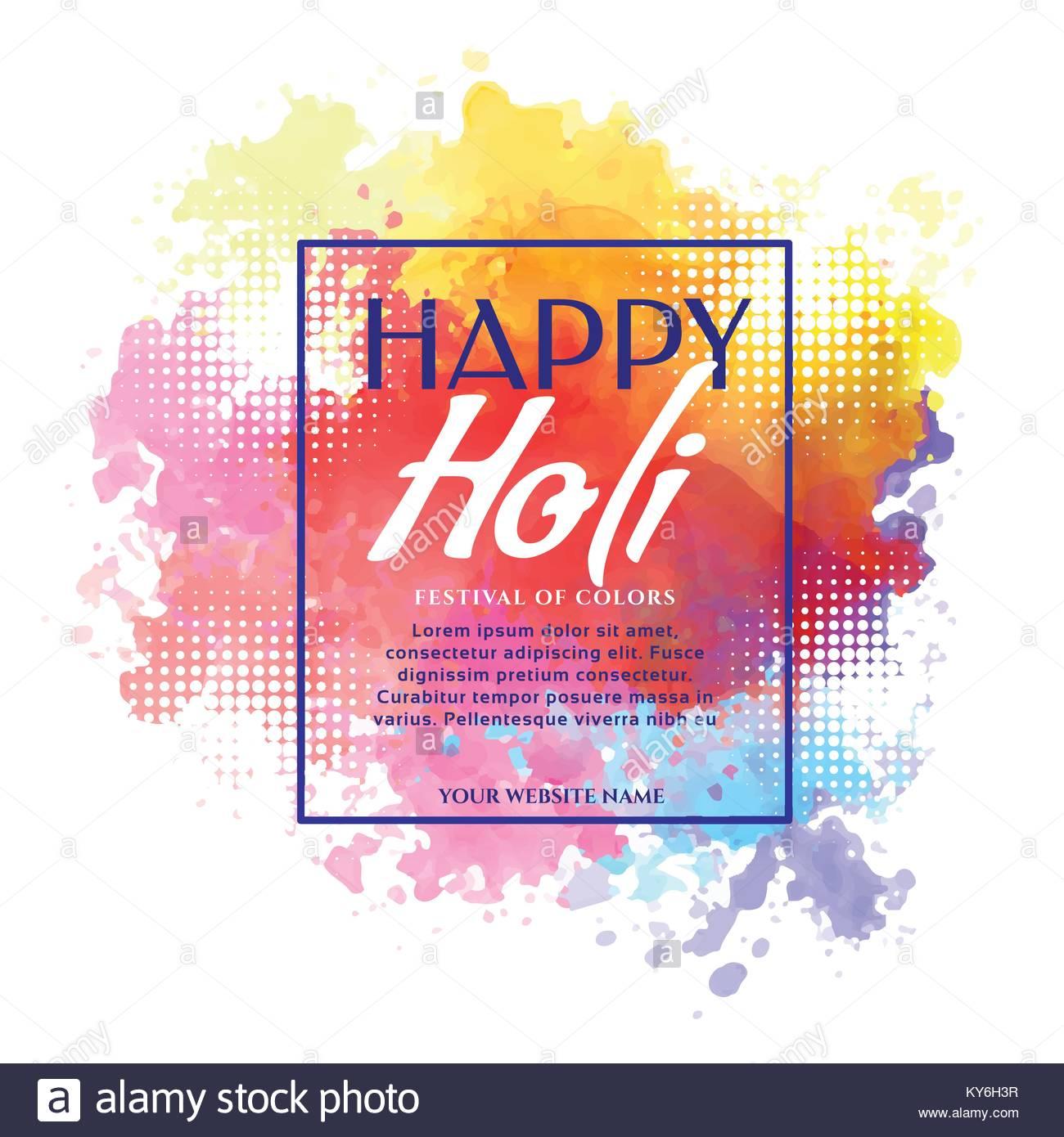 happy holi banner design invitation template Stock Vector Art ...