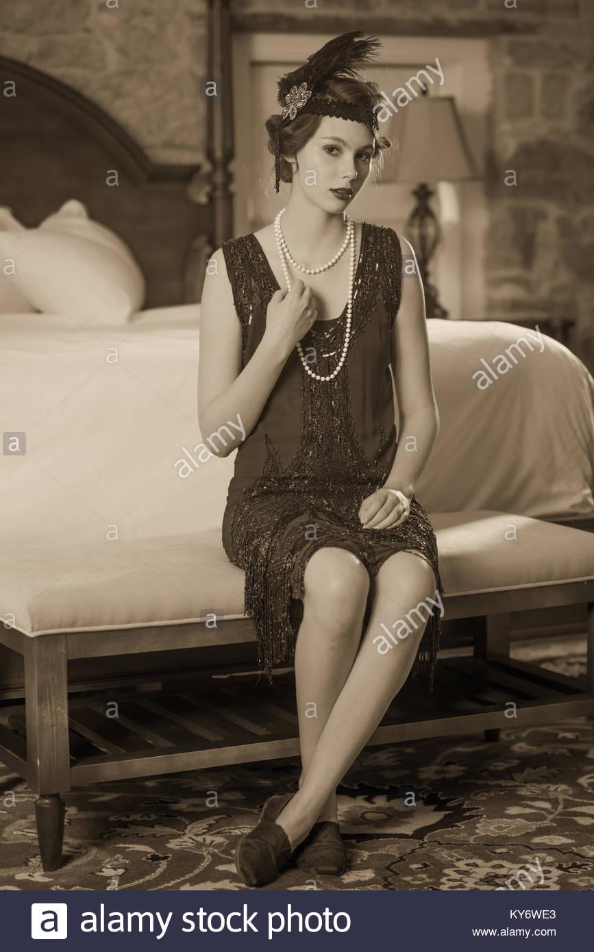 Black White Vintage Flapper Dresses