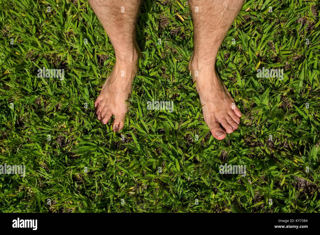Barefoot in the grass - Stock Image