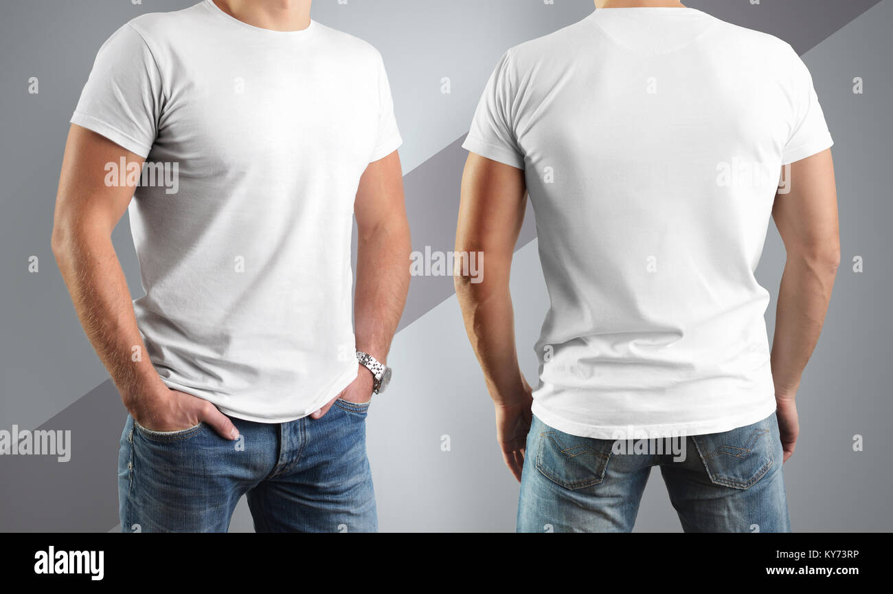 Blank T Shirts Template Front Back Stock Photos Blank T Shirts