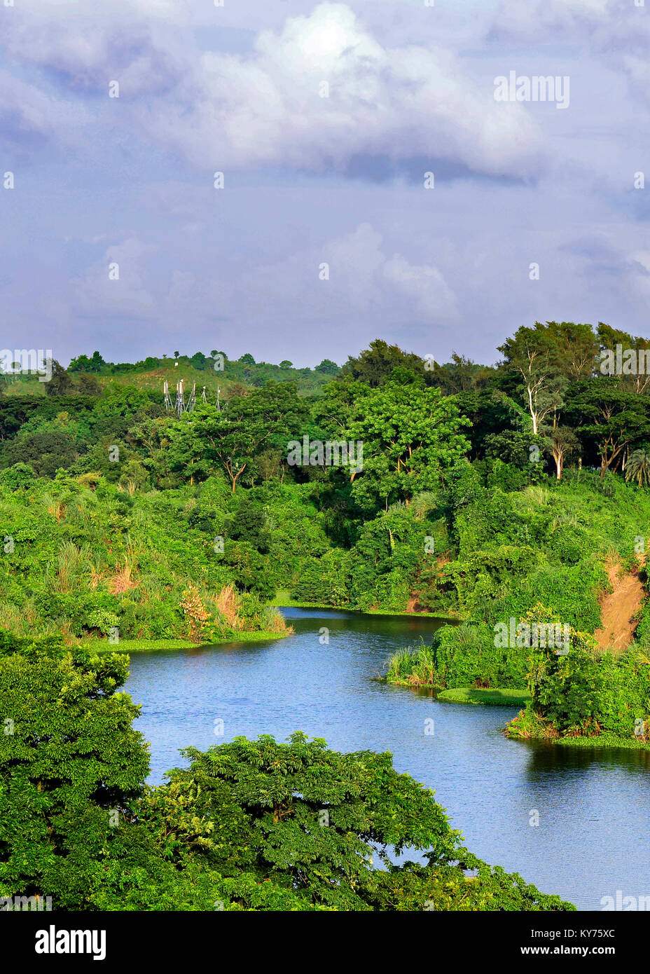 Vatiyari Lake Chittagong, Bangladesh - Stock Image