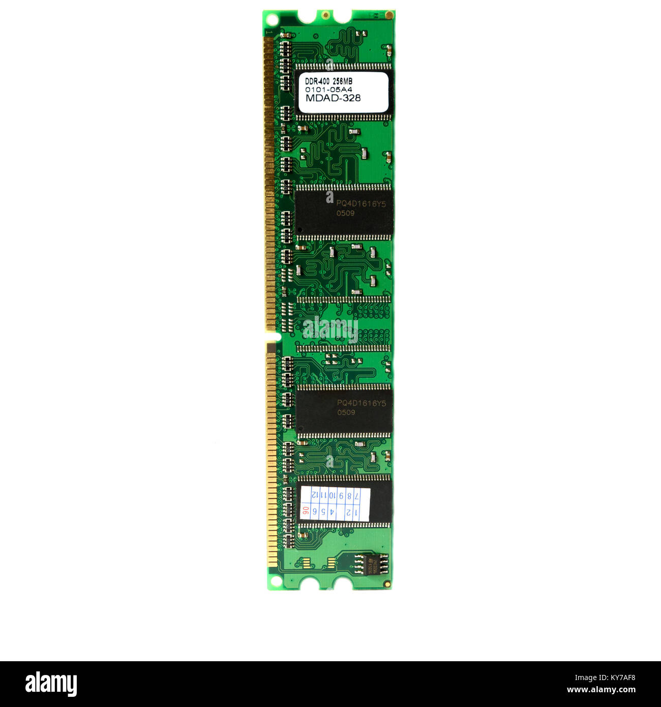 Old CPU ram Random Access Memory DDR2 for personal computer Stock Photo