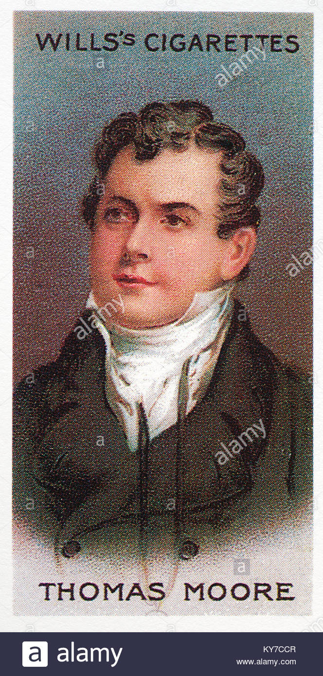 Thomas Moore was an Irish poet and singer 1779 - 1852 - Stock Image