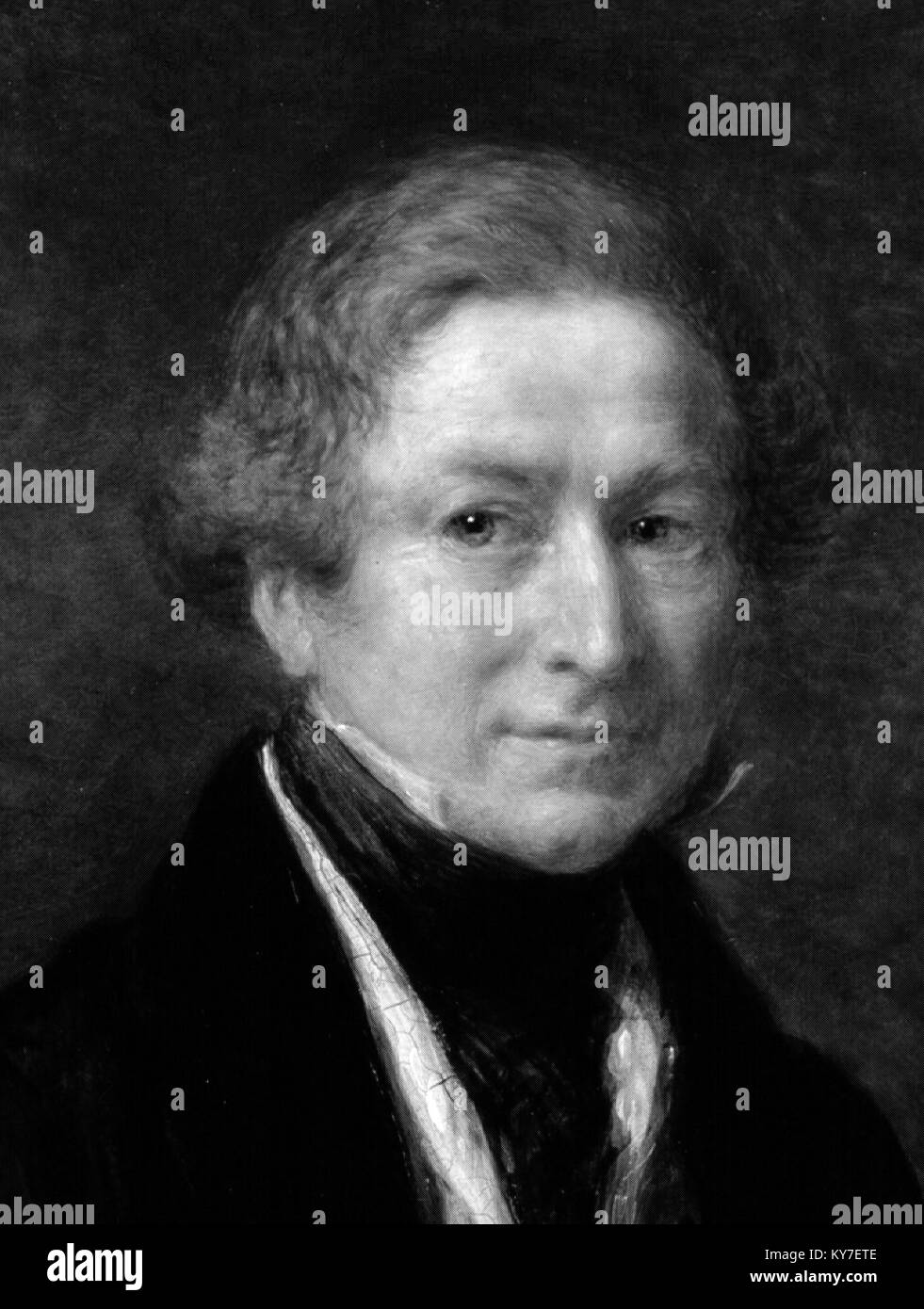 Sir Robert Peel (1788-1850), who served as British Prime Minister on two occasions and is regarded as the founder - Stock Image