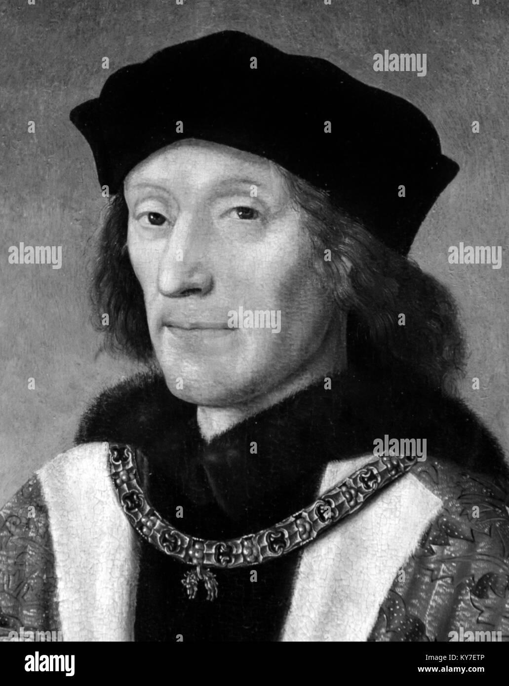 Henry VII. Portrait of King Henry VII (1457-1509) - Stock Image
