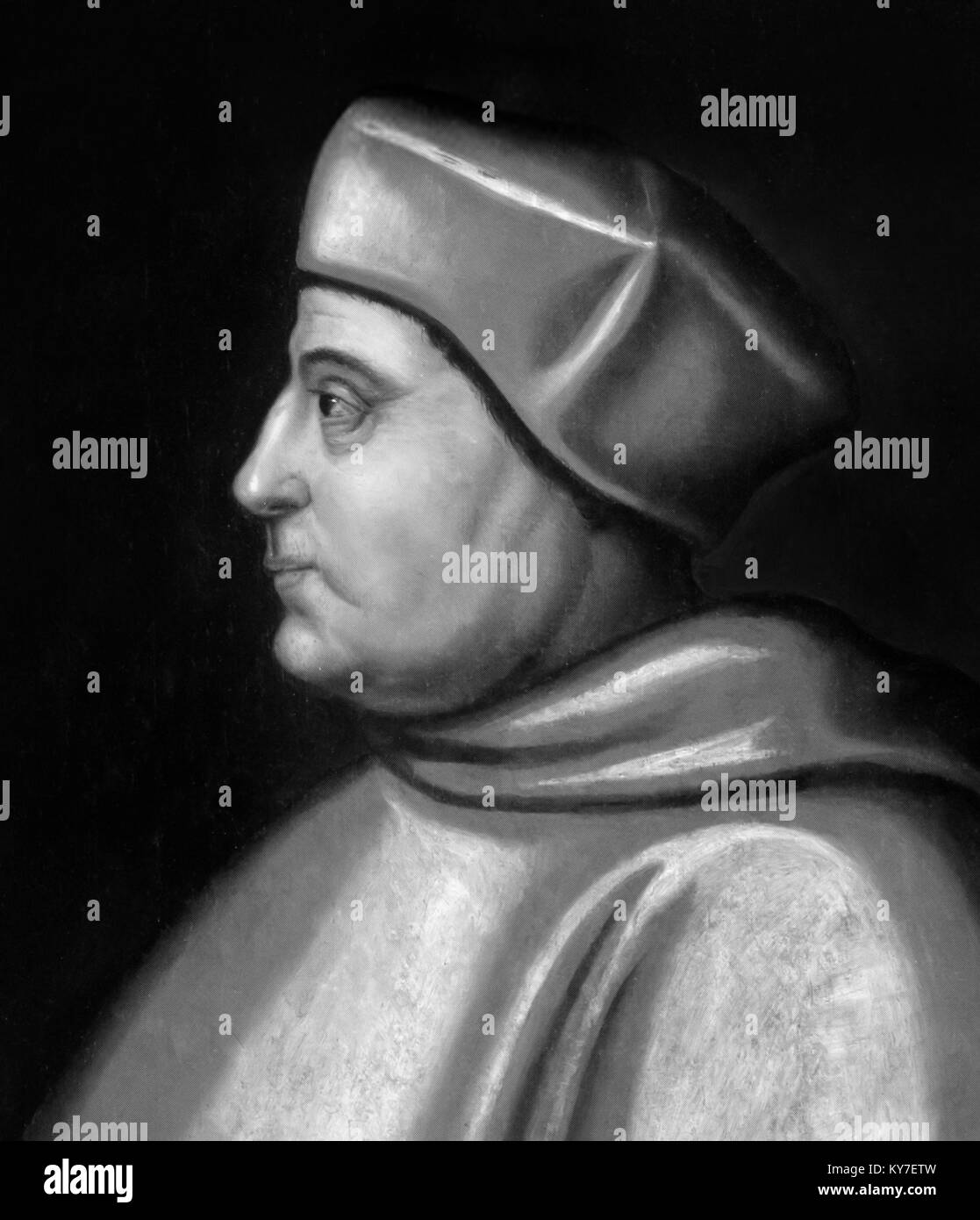 Thomas Wolsey. Portrait of Cardinal Wolsey (c.1473-1530) - Stock Image