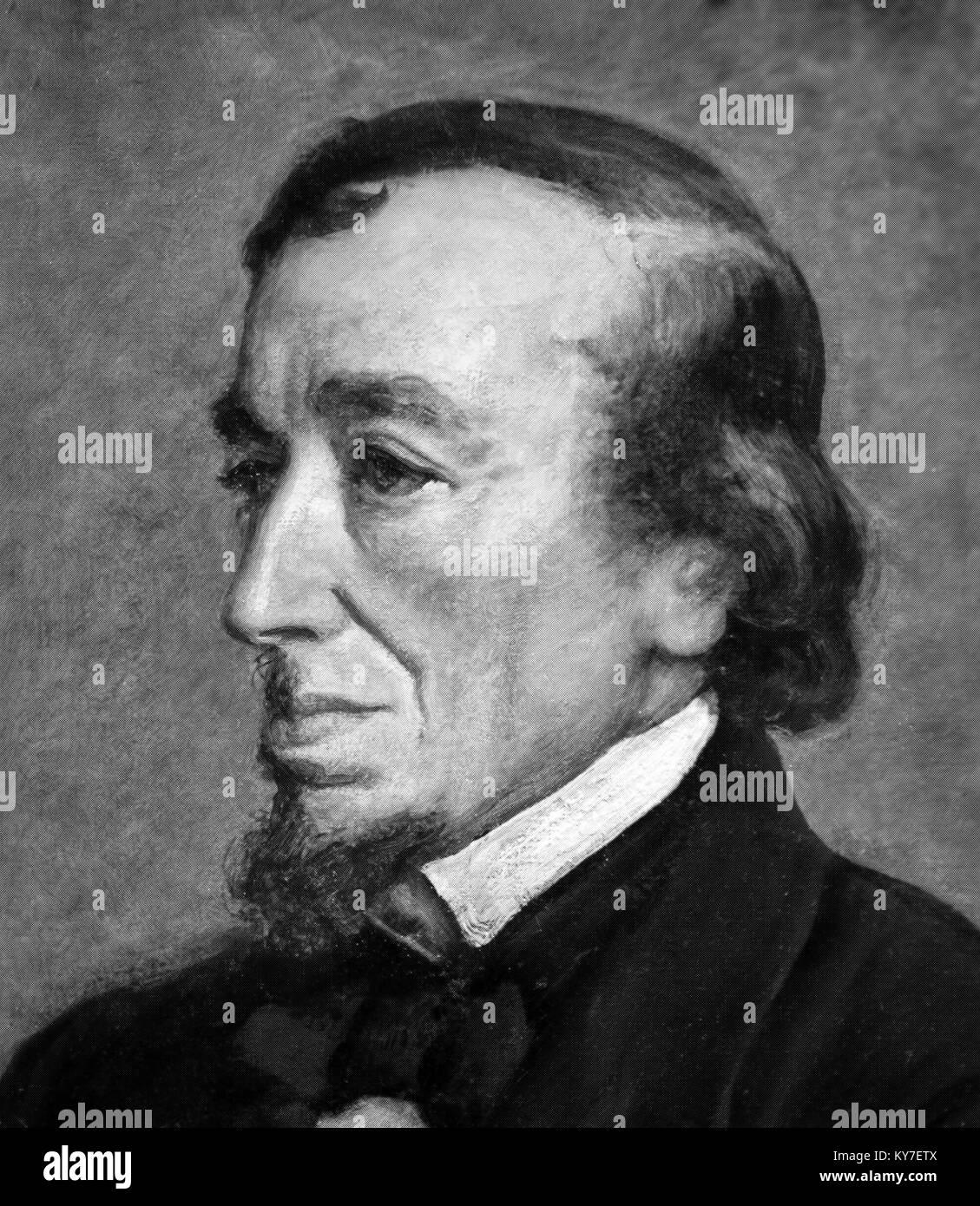 Disraeli. Portrait of Benjamin Disraeli, 1st Earl of Beaconsfield (1804-1881) - Stock Image