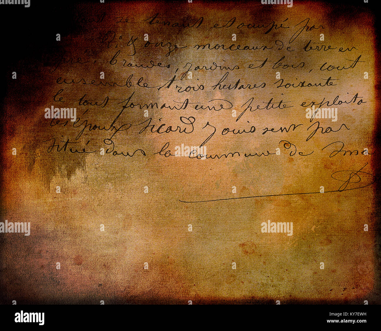 PHOTOGRAPHIC ART: The Letter - Stock Image