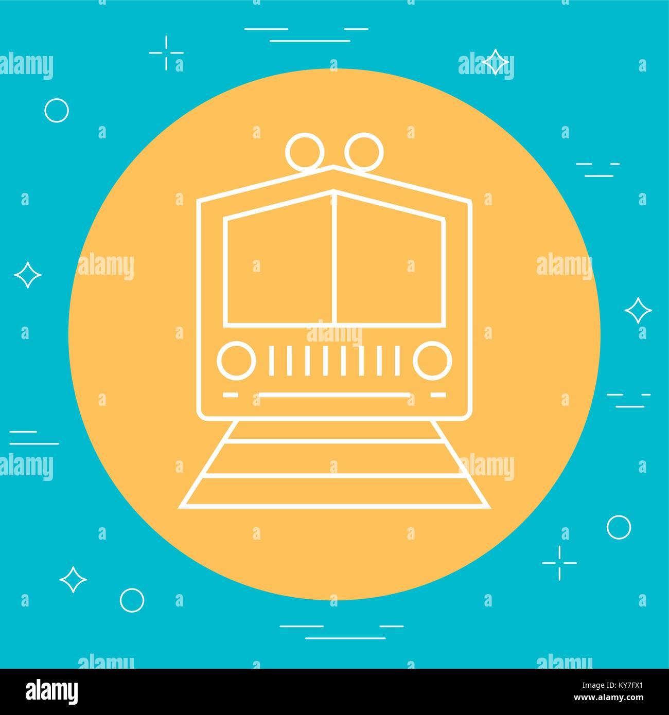 train icon image - Stock Vector