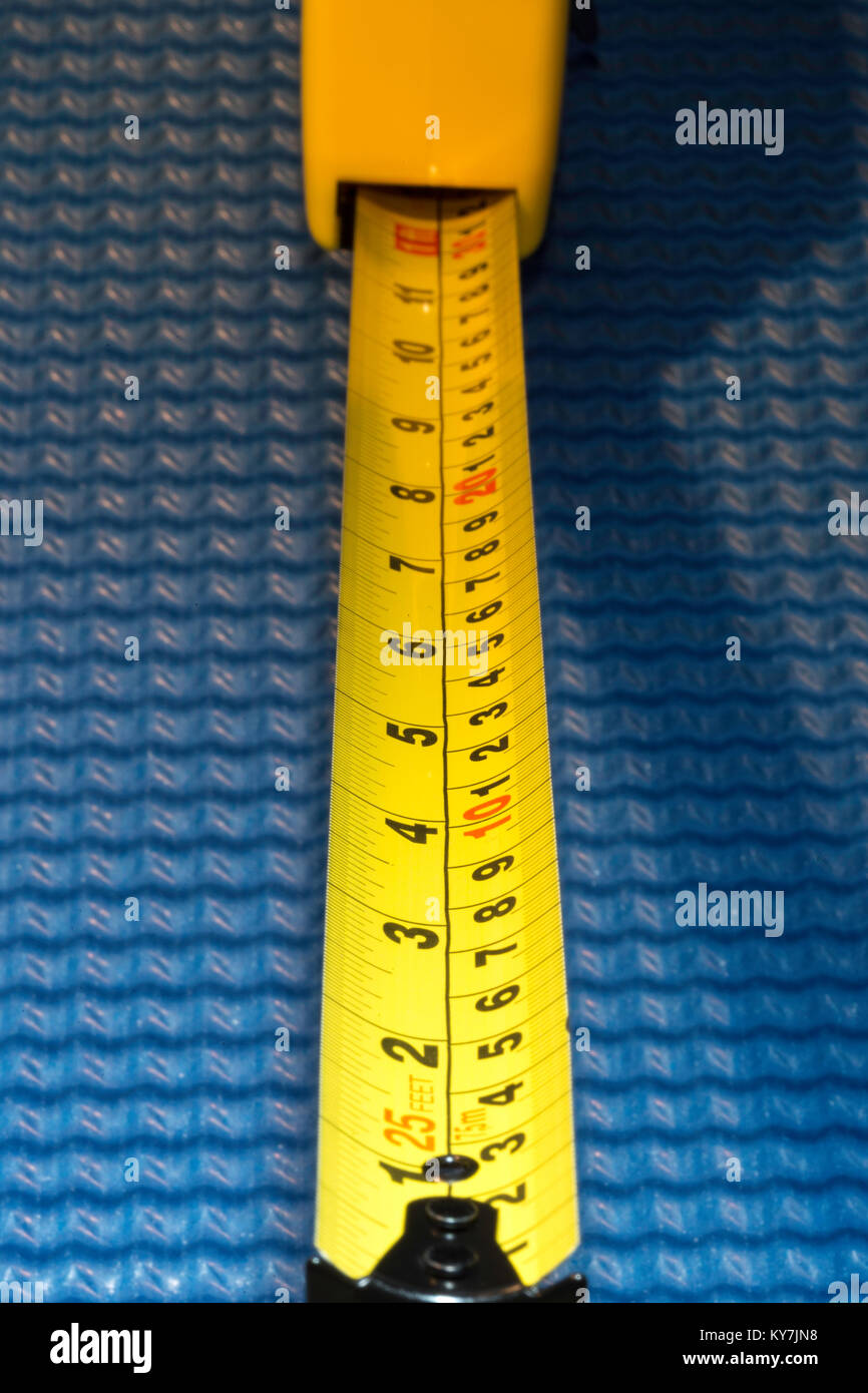 Metal Measuring Tape, USA - Stock Image