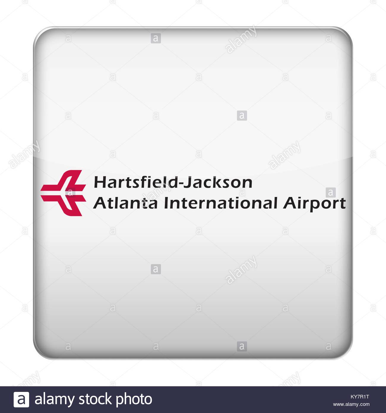 ATL - Hartsfield Jackson Atlanta International Airport icon logo - Stock Image