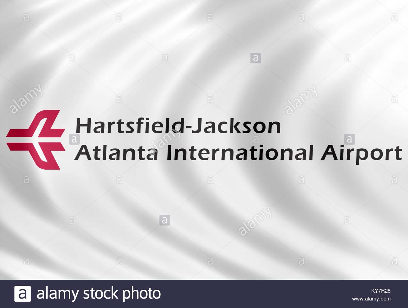 Hartsfield Jackson Atlanta International Airport icon logo - Stock Image