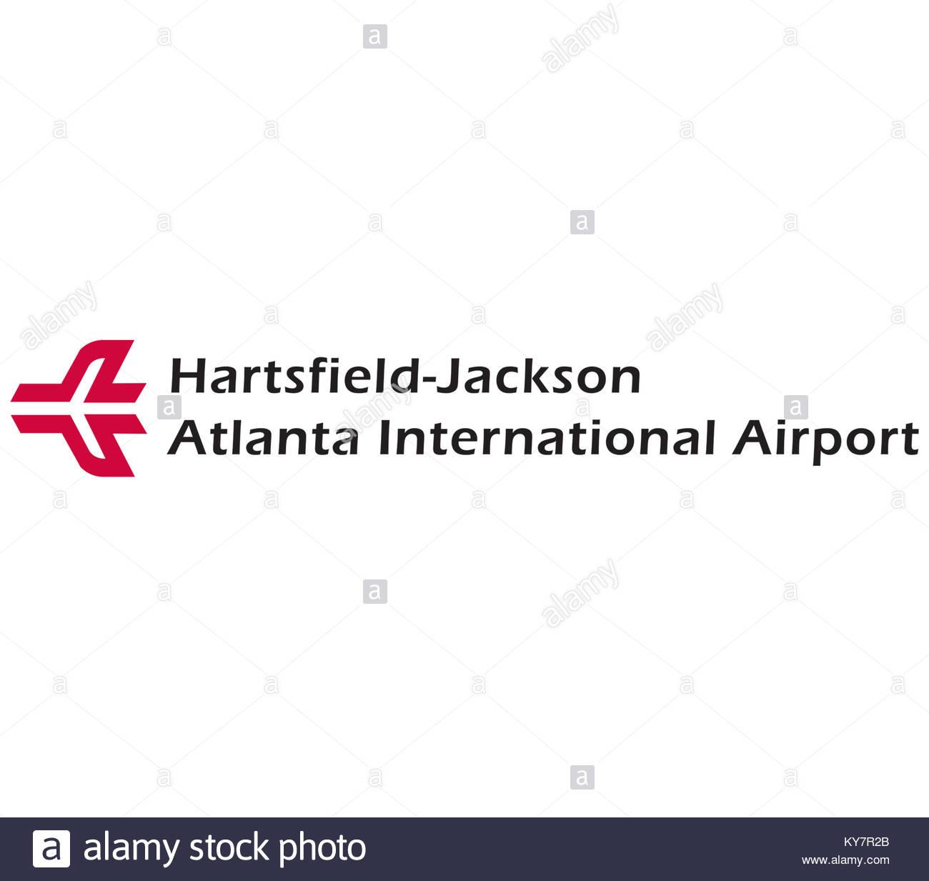 Hartsfield Jackson Atlanta International Airport logo icon - Stock Image