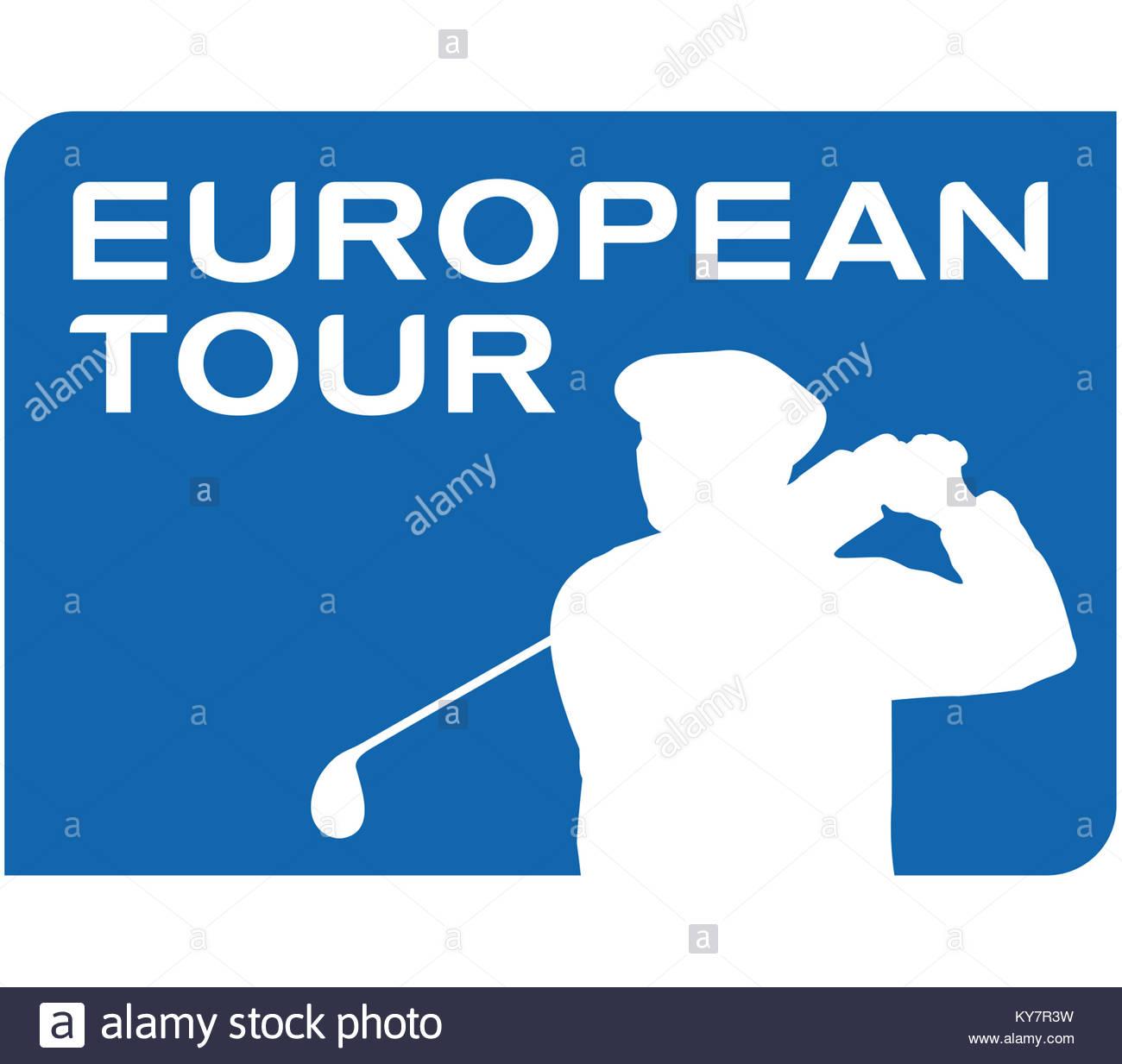 PGA European Tour Golf logo icon - Stock Image