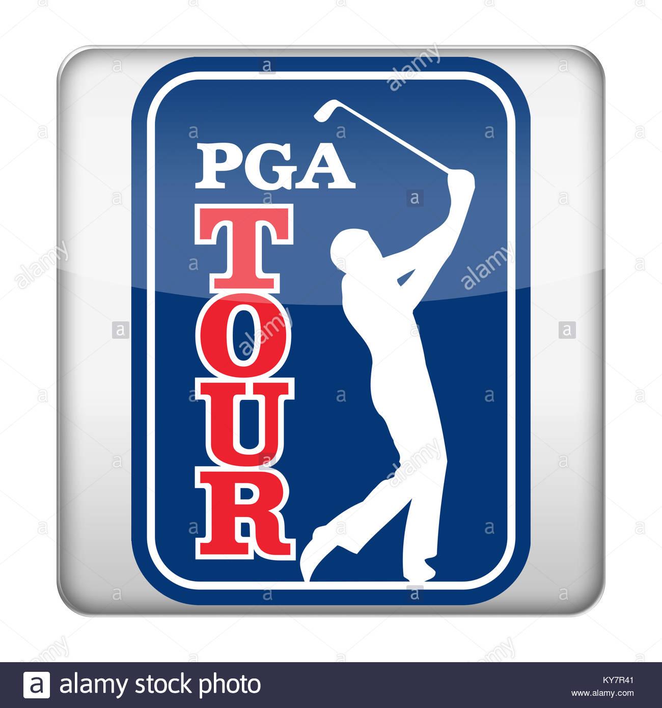 PGA Tour Golf icon logo - Stock Image