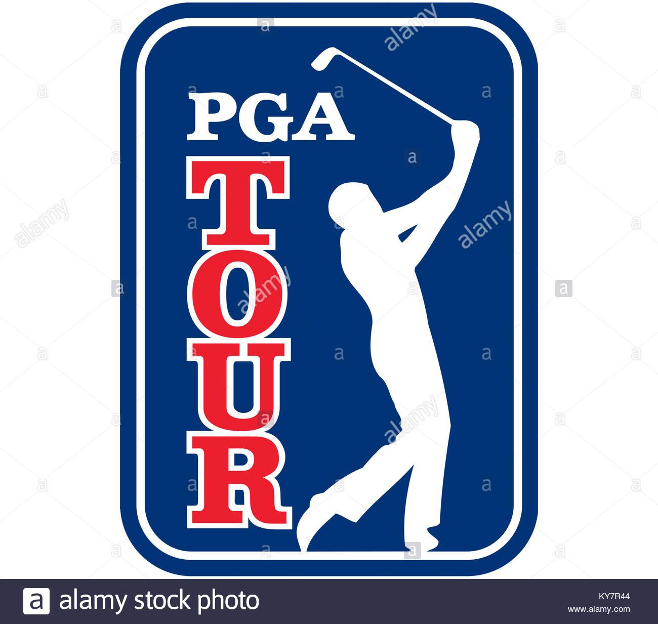 PGA Tour Golf logo icon - Stock Image