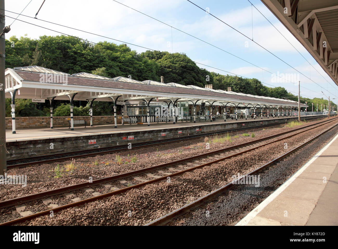 Durham railway station - Stock Image