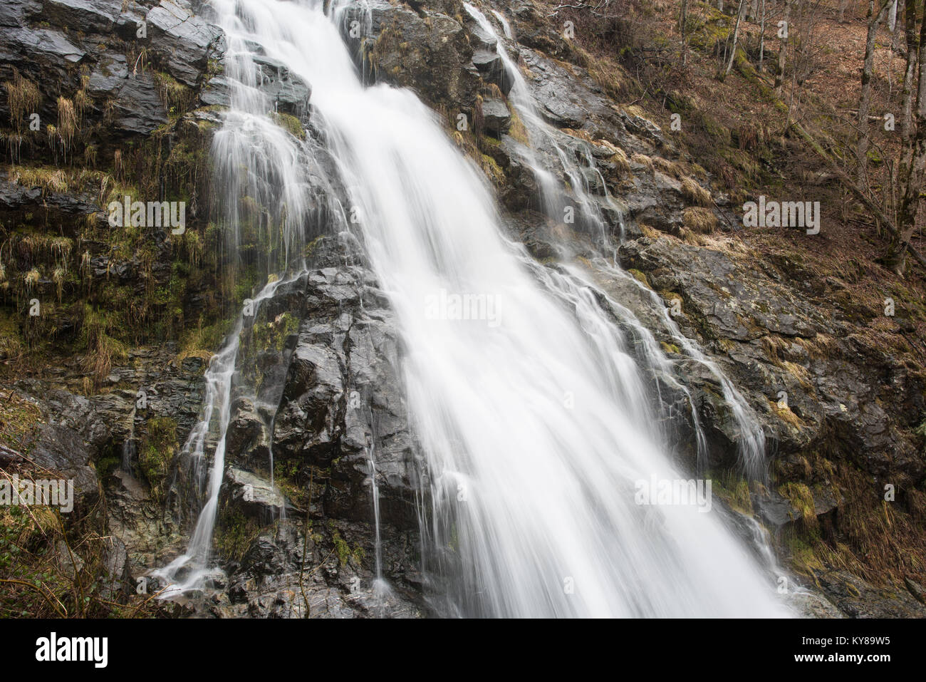 Todtnau waterfall, black forest germany - Stock Image