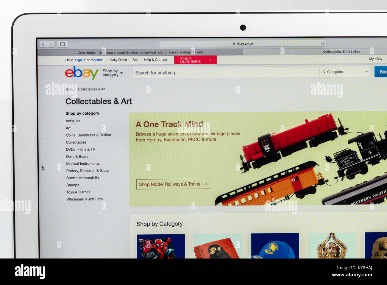 Ebay website (Editorial use only) - Stock Image