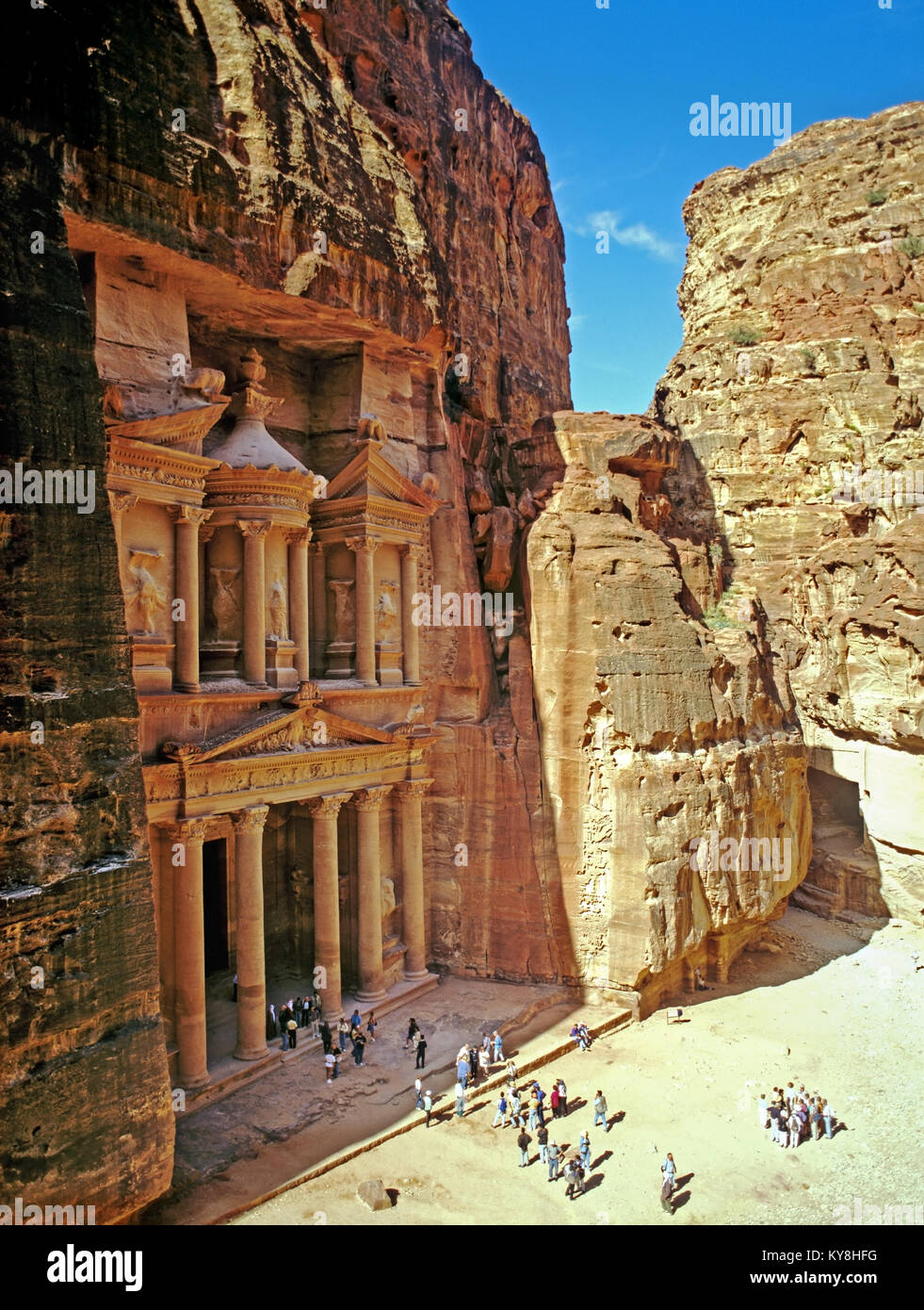 2235. The Khazneh (Treasury), Petra, Ma'an Gov, Jordan Stock Photo