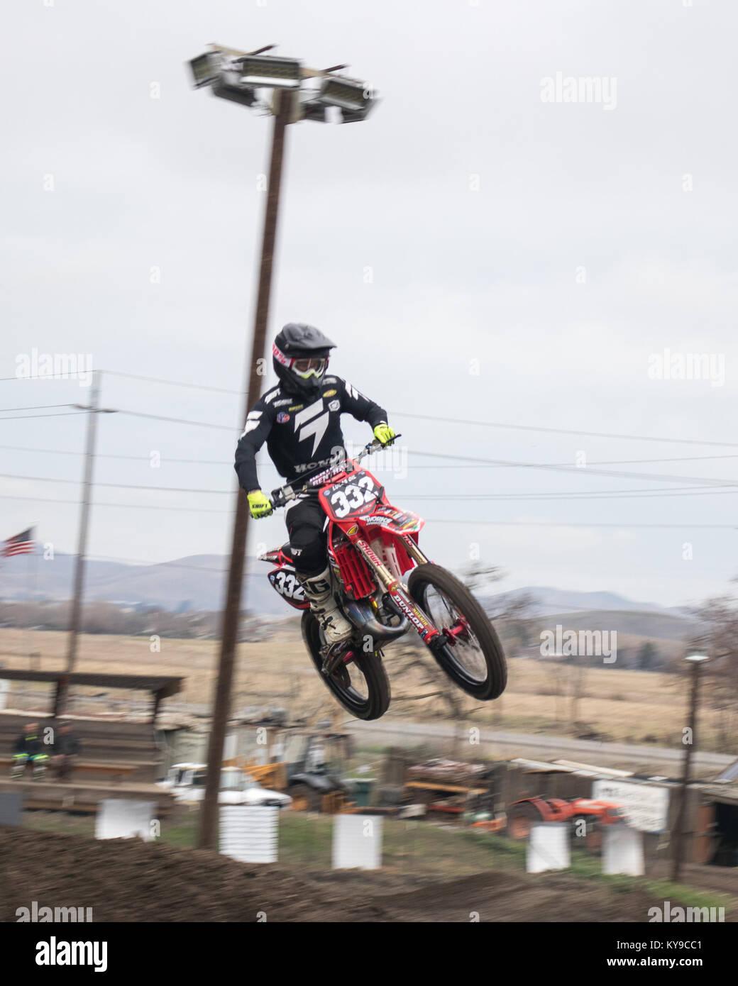 Dirt Bike rider - Stock Image
