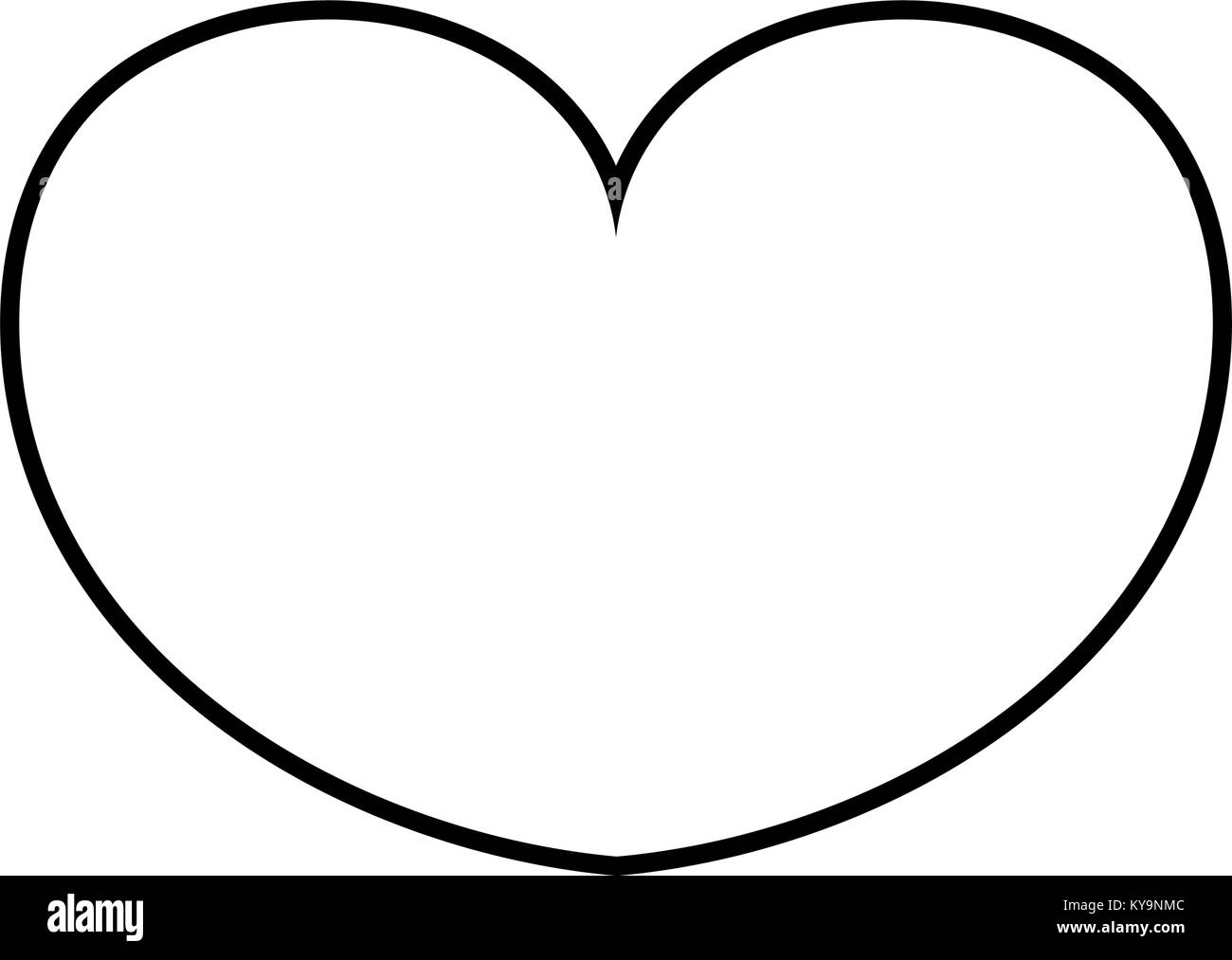 line passion heart sign of love design - Stock Image