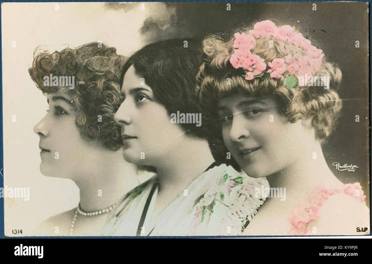 Reutlinger drei Porträts - Stock Image