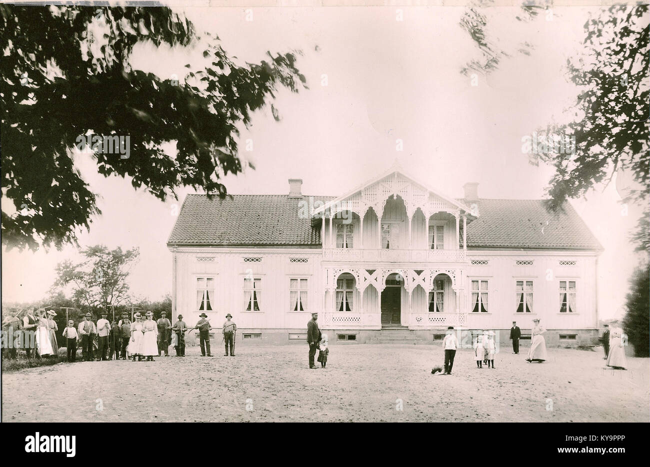 Stensholms säteri (gammal) - Stock Image