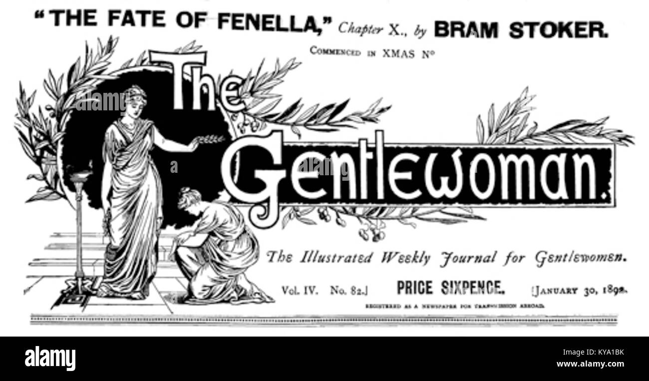 The Gentlewoman 1892 January - Stock Image