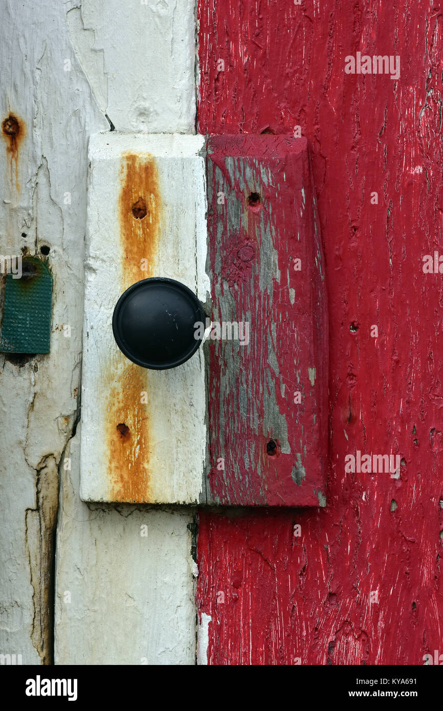 The door handle and makeshift lock on an old painted shed or beach hut held on & Makeshift Lock Stock Photos \u0026 Makeshift Lock Stock Images - Alamy