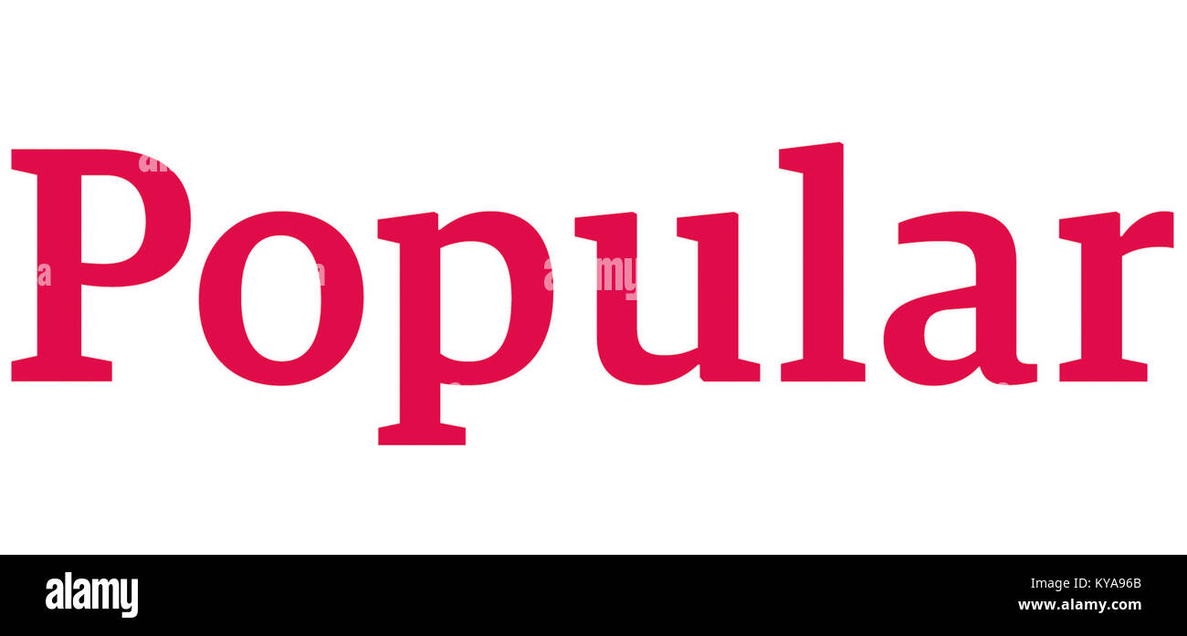 Nuevo Logo Banco Popular Español - Stock Image