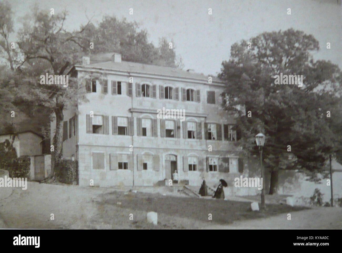 Sommerhaus in Loschwitz, Pillnitzer Landstraße 63, von August Grahl um 1868 - Stock Image