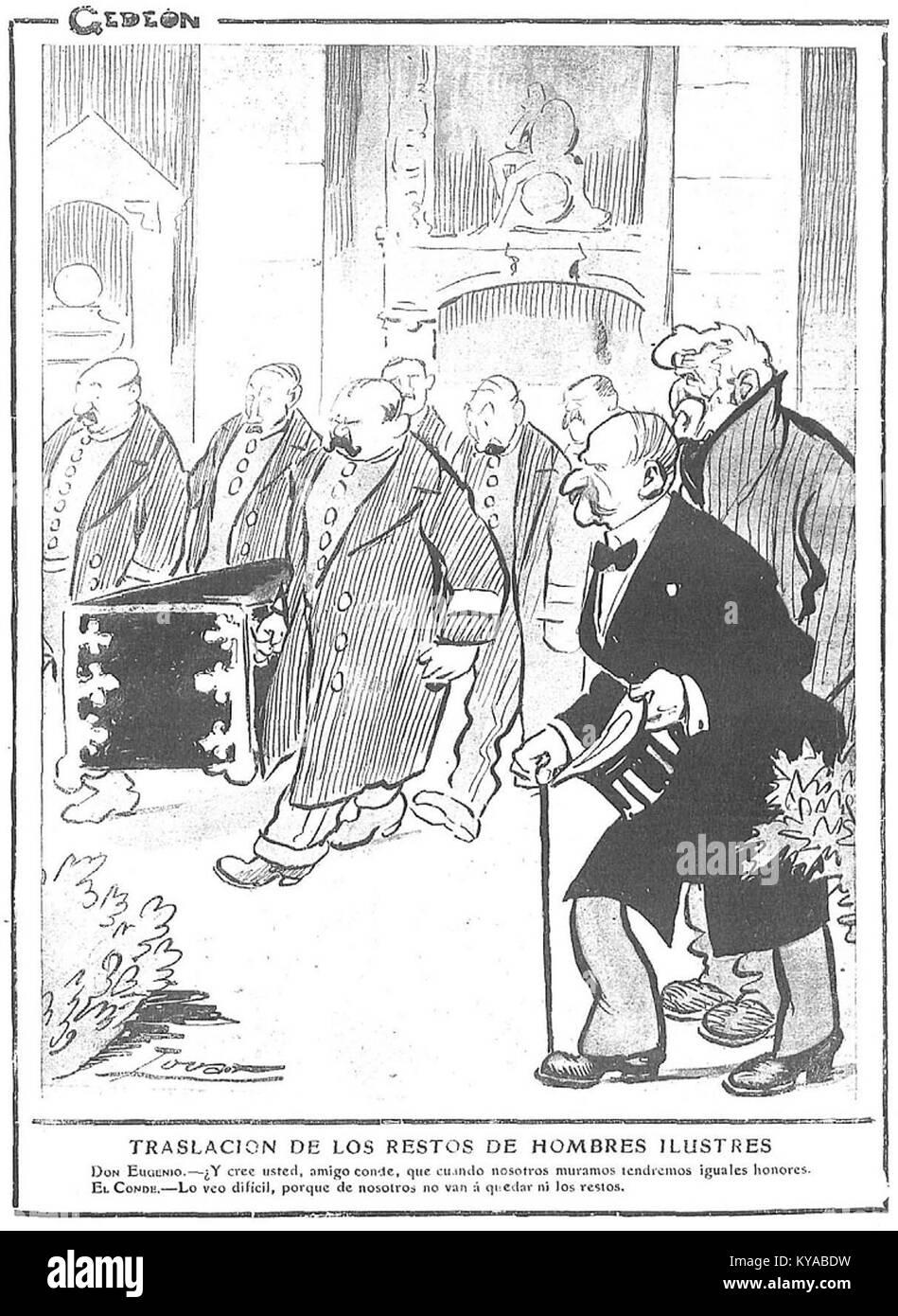 Traslación de los restos de hombres ilustres, de Tovar - Stock Image