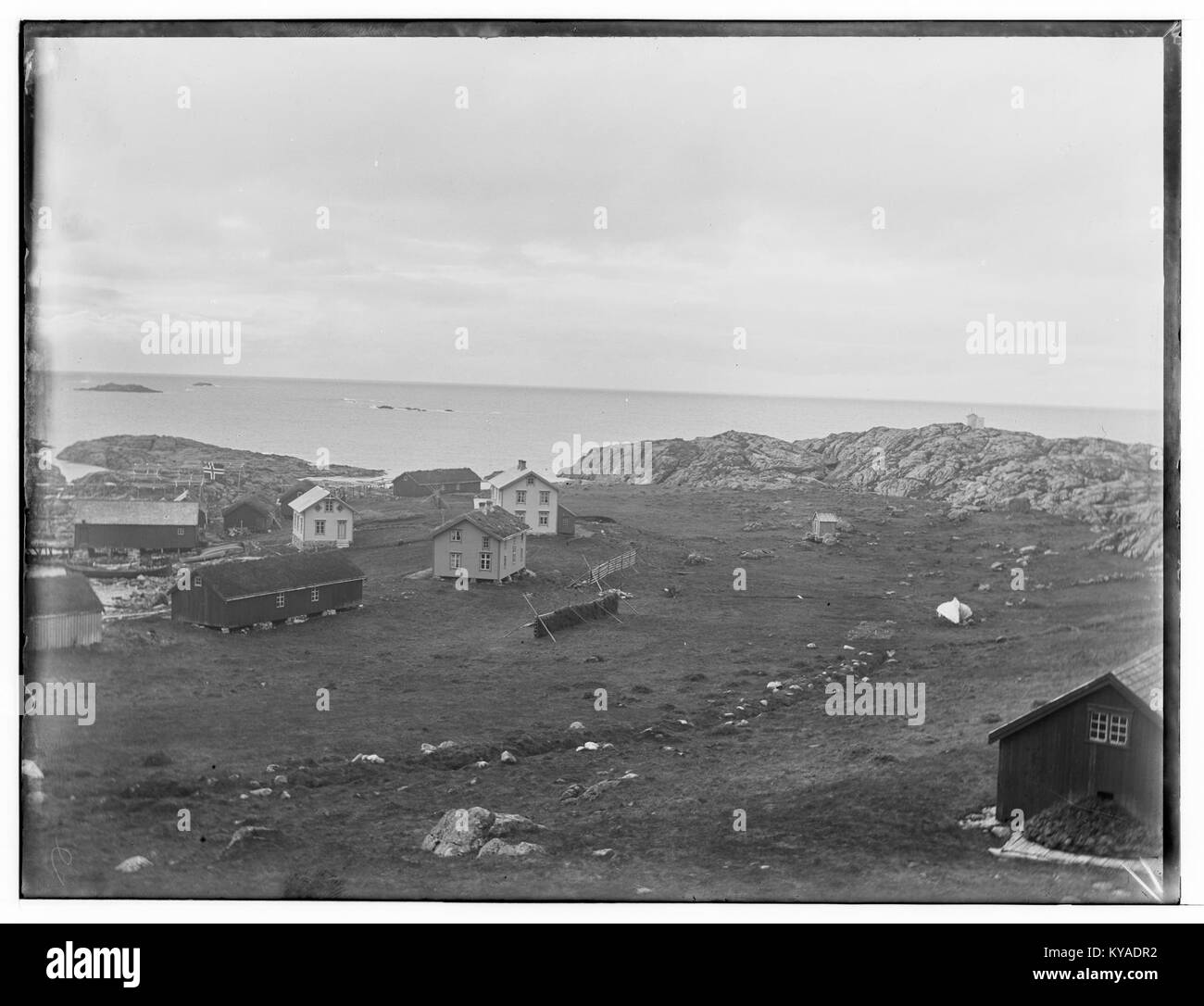 Oversikt, Voje, Sørsand, Nordlands amt - fo30141512070009 - Stock Image
