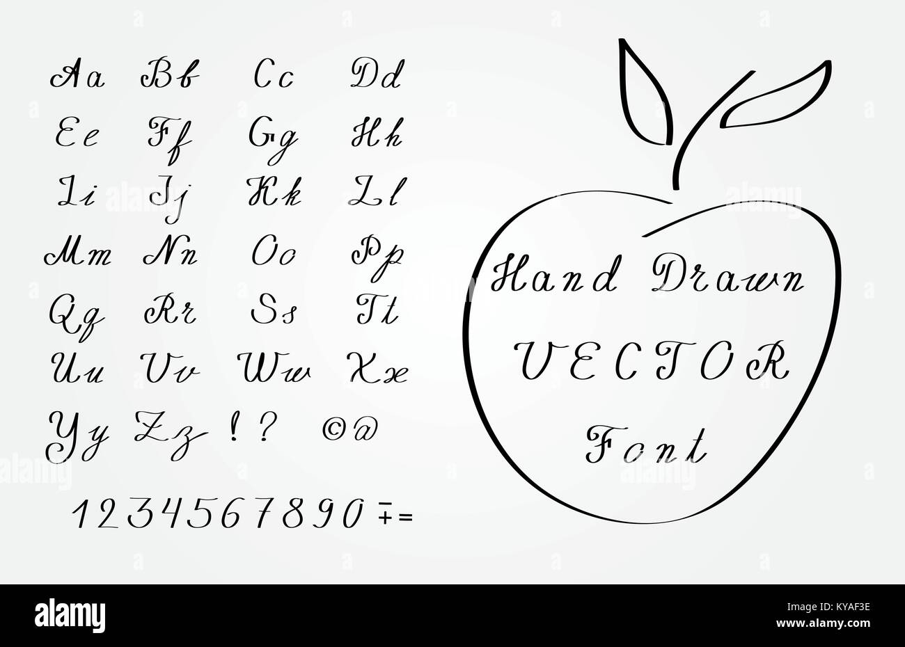 Vector Hand Drawn Font