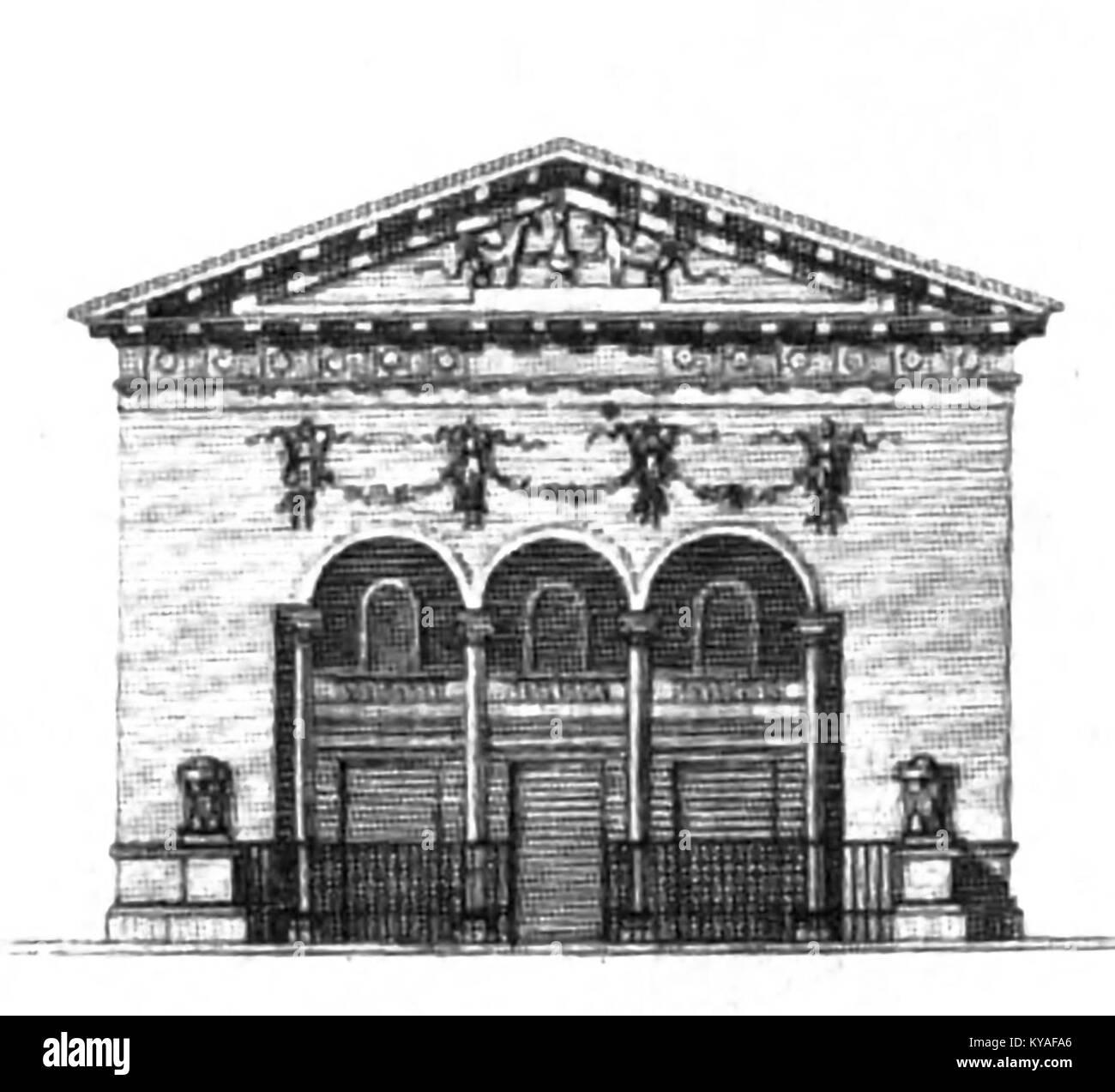 Théâtre des Jeunes Artistes - Kaufmann 1837 plate5 (elevation) - Stock Image